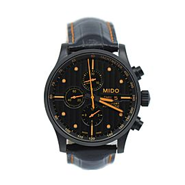 Mido Multifort Chronograph Black Stainless Steel Watch M005614A