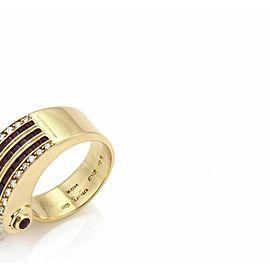 Estate 1.50ct Diamond & Ruby 18k Yellow Gold Fancy Wave Band Ring