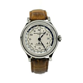 Baume & Mercier Capeland Worldtime Stainless Steel Watch MOA10106