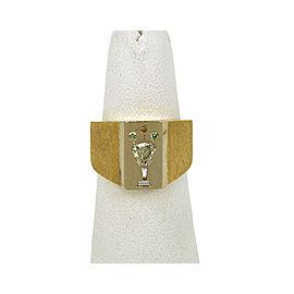 Diamond 18k Two Tone Gold Champagne Glass Ring Size 7