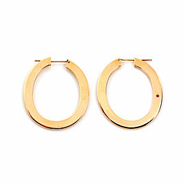 Roberto Coin 18k Rose Gold Long Oval Hoop Earrings