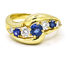 Kurt Wayne 1.10 Carat 18k Yellow Gold Sapphire Diamond Ring