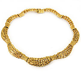 David Webb 18k Yellow Gold Choker Necklace