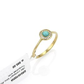 Ippolita Lollipop Turquoise & Diamond 18k Yellow Gold Mini Ring