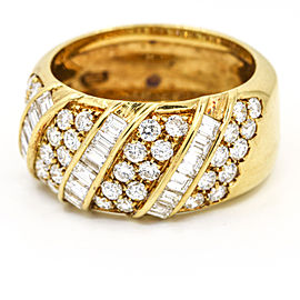 Damiani 2.00 Carat 18k Yellow Gold Diamond Band Ring