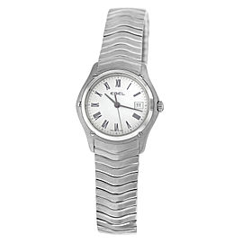 New Ladies' Ebel Classic Wave 9257F21 Stainless Steel 28MM Quartz $2,150 Watch