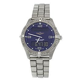 Men's Breitling Aerospace E56062 Titanium 40MM Multifunction Quartz Watch