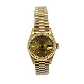 Rolex Datejust 18K Yellow Gold Watch 69178