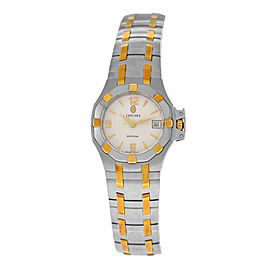 New Ladies' Concord Saratoga 15.36.1840 Steel Gold 25MM Quartz $2,990 Watch