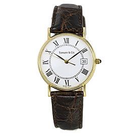 Tiffany & Co. Portfolio 14k Yellow Gold Quartz Dress Watch