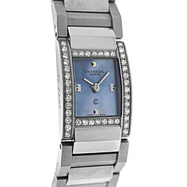 Ladies' Charriol Megeve MVGED MOP Stainless Steel Diamond 19MM Quartz Watch
