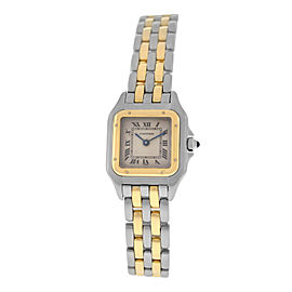 Ladies' Cartier Panthere 1120 Steel 18K Yellow Gold Two Row 22MM Quartz Watch