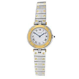 Ladies Cartier Santos Ronde 27MM 18K Yellow Gold Quartz Watch