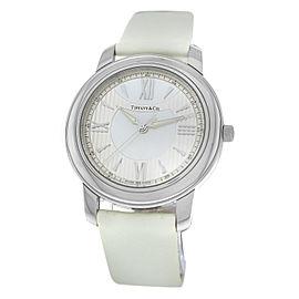 New Unisex Tiffany & Co. Mark Z0046.17.10A91A40A Steel MOP 37MM Quartz Watch