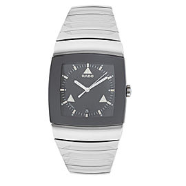New Men's Rado Sintra R13777152 Ceramic 35MM Quartz Date $2,500 Watch