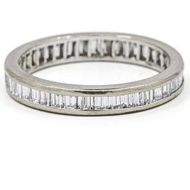 2.00 Carat 18k White Gold Baguette Diamond Channel Set Eternity Band Ring