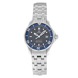 Ladies' Omega Seamaster 2224.80 Blue Stainless Steel Quartz 29MM Bond Watch