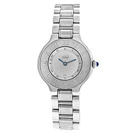 Ladies Cartier Must de Cartier 1340 Quartz Stainless Steel 28MM Watch