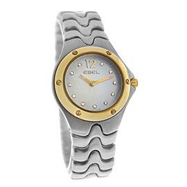 New Ladies' Ebel Sport Wave 1956K21 Gold 28MM MOP Diamond Quartz $2,400 Watch
