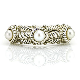 Judith Ripka Sterling Silver Pearl Band Ring