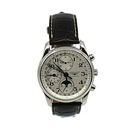 Longines Master Chronograph Stainless Steel Watch L2.773.4.78.3