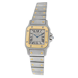 Authentic Ladies Cartier Santos Galbee 1567 18K Yellow Gold Quartz 24MM Watch