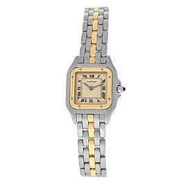 Ladies' Cartier Panthere Steel 18K Gold One Row 22MM Quartz Watch