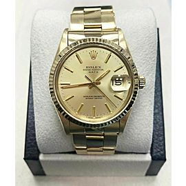 Rolex Oyster Perpetual Date 15038 18K Yellow Gold COLLECTIBLE Beautiful