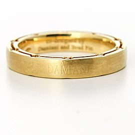 Damiani Brad Pitt Diamond Wedding Band in 18k Yellow Gold Size 8