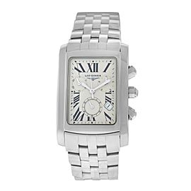 New Men's Unisex Longines Dolce Vita L56804716 $1,725 Chrono Quartz 30MM Watch