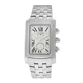 New Men's Unisex Longines Dolce Vita L56804716 $1,725 Chrono Quartz 30MM Watch