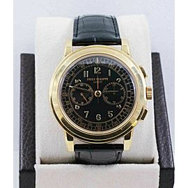Patek Philippe 5070J 18K Yellow Gold Chronograph Box Papers Box Papers RARE