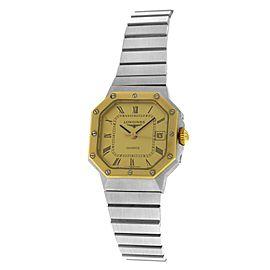 New Ladies' Longines Octagon Stainless Steel Yellow Gold Quartz 24mm Watch