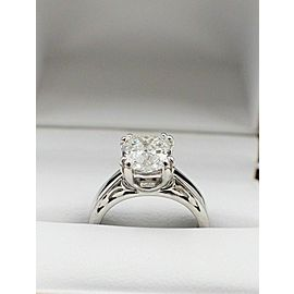 Na Hoku Diamond Engagement Ring Cushion Cut 1.97 cts F VVS1 18K White Gold