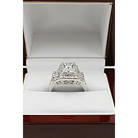 Tycoon Cut Platinum Diamond Engagement Ring 2.42 tcw 3 Stone G SI1 $45,000 Value