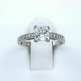 Tiffany & Co Princess Diamond Engagement Ring 1.29 tcw Platinum $17,100 Retail