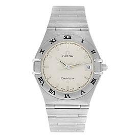 Men's Unisex Omega Constellation 1512.30 Steel Date 34MM Quartz Watch