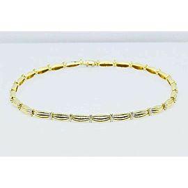 Tiffany & Co 1992 Diamond Station Necklace 18K Yellow Gold Signature II 4.00 tcw