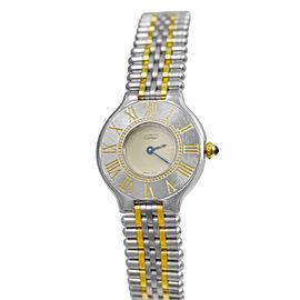 Ladies' Cartier Must de Cartier Bullet Quartz Steel Gold 28MM Watch