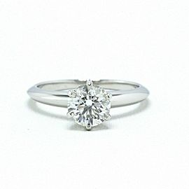 Tiffany & Co Platinum Diamond Engagement Ring Round 1.07 ct F VS1