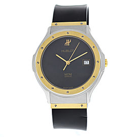 Men's Unisex Hublot MDM Classic 1521.2 Steel Gold Quartz 36MM Date Broken Strap