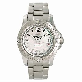 Breitling Colt 36 A74389 Womens Quartz Watch With Box & Papers SS 36mm