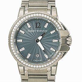 Harry Winston Ocean Sport Zelium 411LQ36Z Womens Watch With Box&Papers 36mm