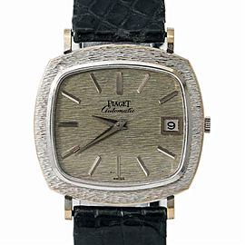 Piaget 13434 A6 Men's Automatic 18k White Gold Watch Silver Dial 32mm