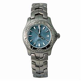 Tag Heuer Link WJ1316 Women's Quartz Watch Blue MOP Dial SS 27mm
