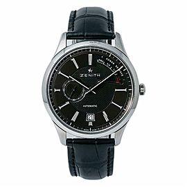 Zenith Captain Elite 03.2120.685 Mens Automatic Watch Black Dial SS 40mm