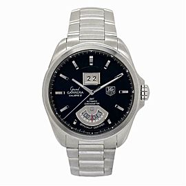 Tag Heuer Grand Carrera WAV5111 Mens Automatic Watch Black Dial SS 42mm