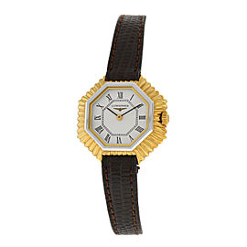 New Ladies' Longines Octagon Steel Gold Mechanical Hand Winding 27mm Watch