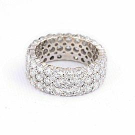 Gorgeous 5.50 ctw Five Row Round Diamond 18K Eternity Band G VS Ring Size 6.5
