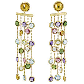 Marco Bicego Jaipur Gemstone Chandelier Earrings in 18k Yellow Gold